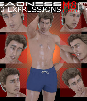 Sadness for Michael 8 and Genesis 8 Male 3D Figure Assets farconville