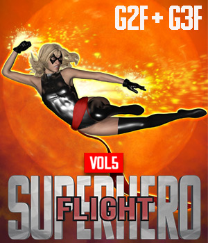 SuperHero Flight for G2F and G3F Volume 5 3D Figure Assets GriffinFX