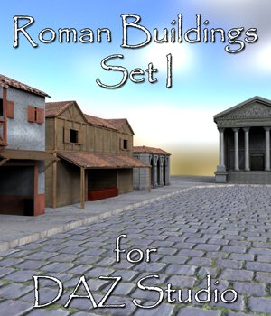 Roman Buildings Set I - for DAZ Studio  3D Models VanishingPoint