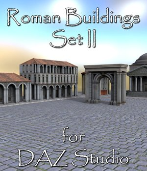 Roman Buildings Set II - for DAZ Studio  3D Models VanishingPoint