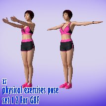 X7 physical exercises poses set 1 2 for G8F image 2