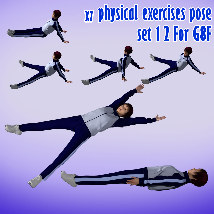 X7 physical exercises poses set 1 2 for G8F image 4