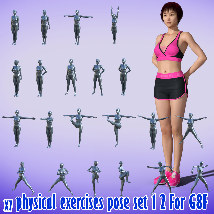 X7 physical exercises poses set 1 2 for G8F image 5