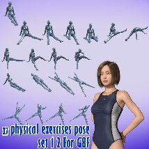 X7 physical exercises poses set 1 2 for G8F image 6