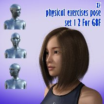 X7 physical exercises poses set 1 2 for G8F image 7