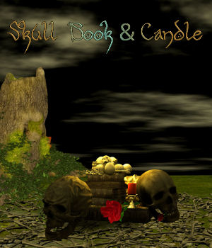 DA-Skull, Book & Candle 2D Graphics DarkAngelGrafics