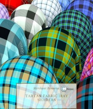 30 Tartan Fabric PBR Iray Shaders for Daz Studio 3D Figure Assets nelmi