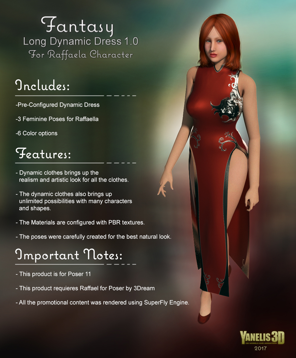Y3D Dynamic Fantasy Dress 1 for Raffaella