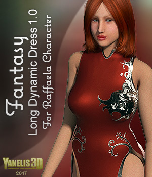 Y3D Dynamic Fantasy Dress 1 for Raffaella 3D Figure Assets Yanelis3D