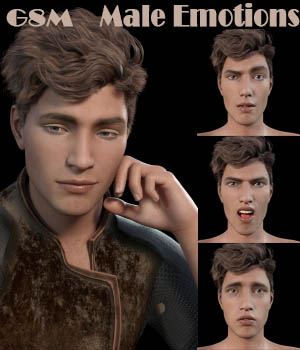Male Emotions for Genesis 8 3D Figure Assets aeris19
