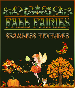 Fall Fairies Seamless Patterns 2D Graphics Merchant Resources fractalartist01