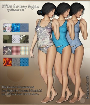 Xtra for Lazy Nights 3D Figure Assets ShadowCat78