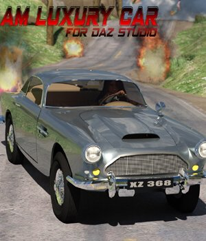 AM Luxury Car  - for DAZ Studio  3D Models VanishingPoint
