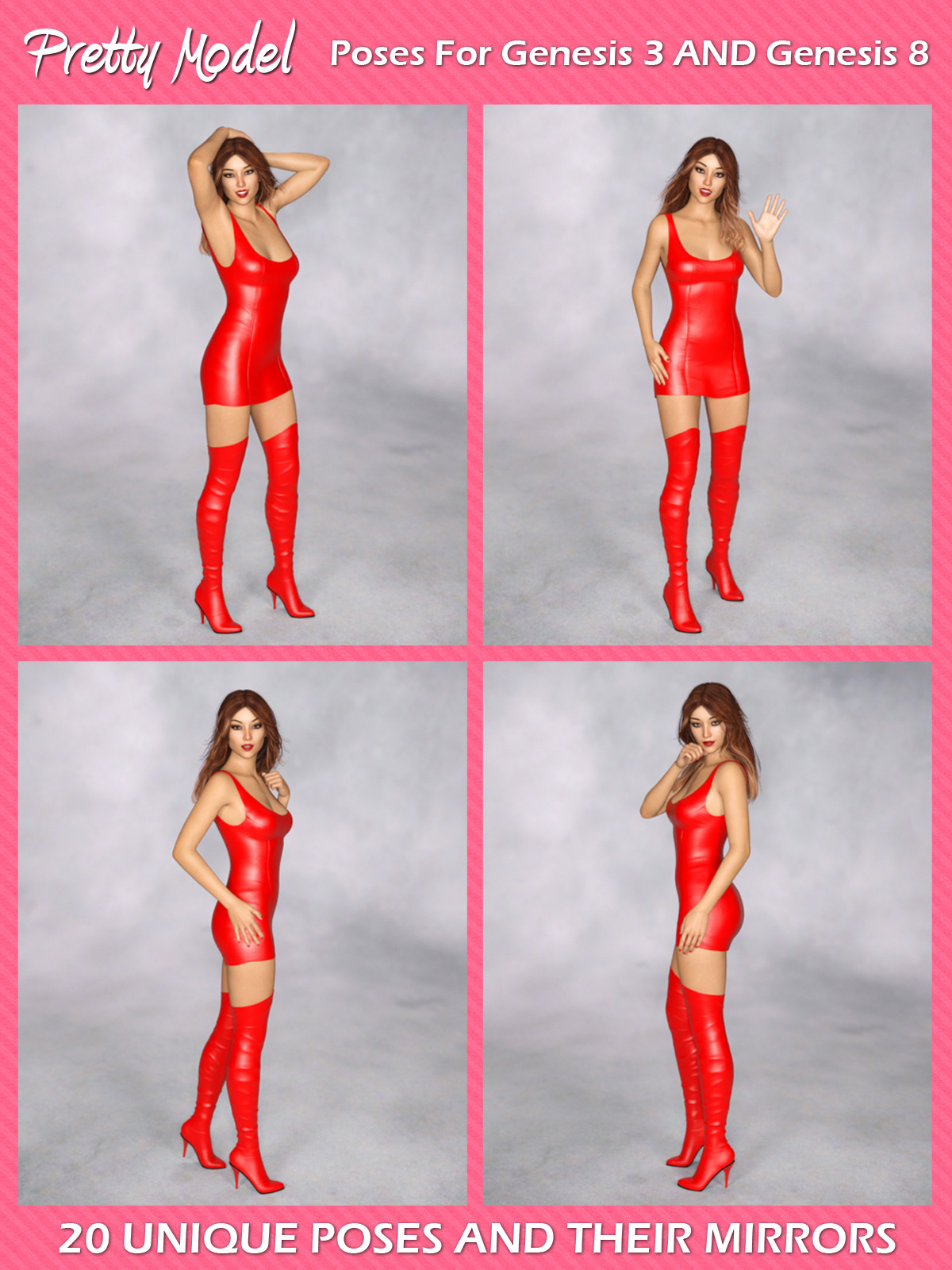 Pretty Model Poses For G3f And G8f 3d Figure Assets Foxy 3d
