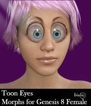 Toon Eyes Morphs for Genesis 8 Female 3D Figure Assets biala