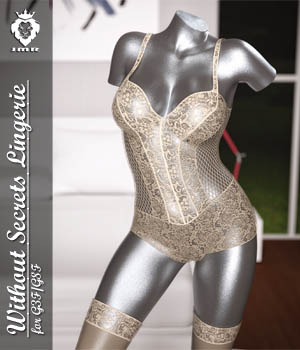 JMR Without Secrets Lingerie for G3F/G8F 3D Figure Assets JaMaRe