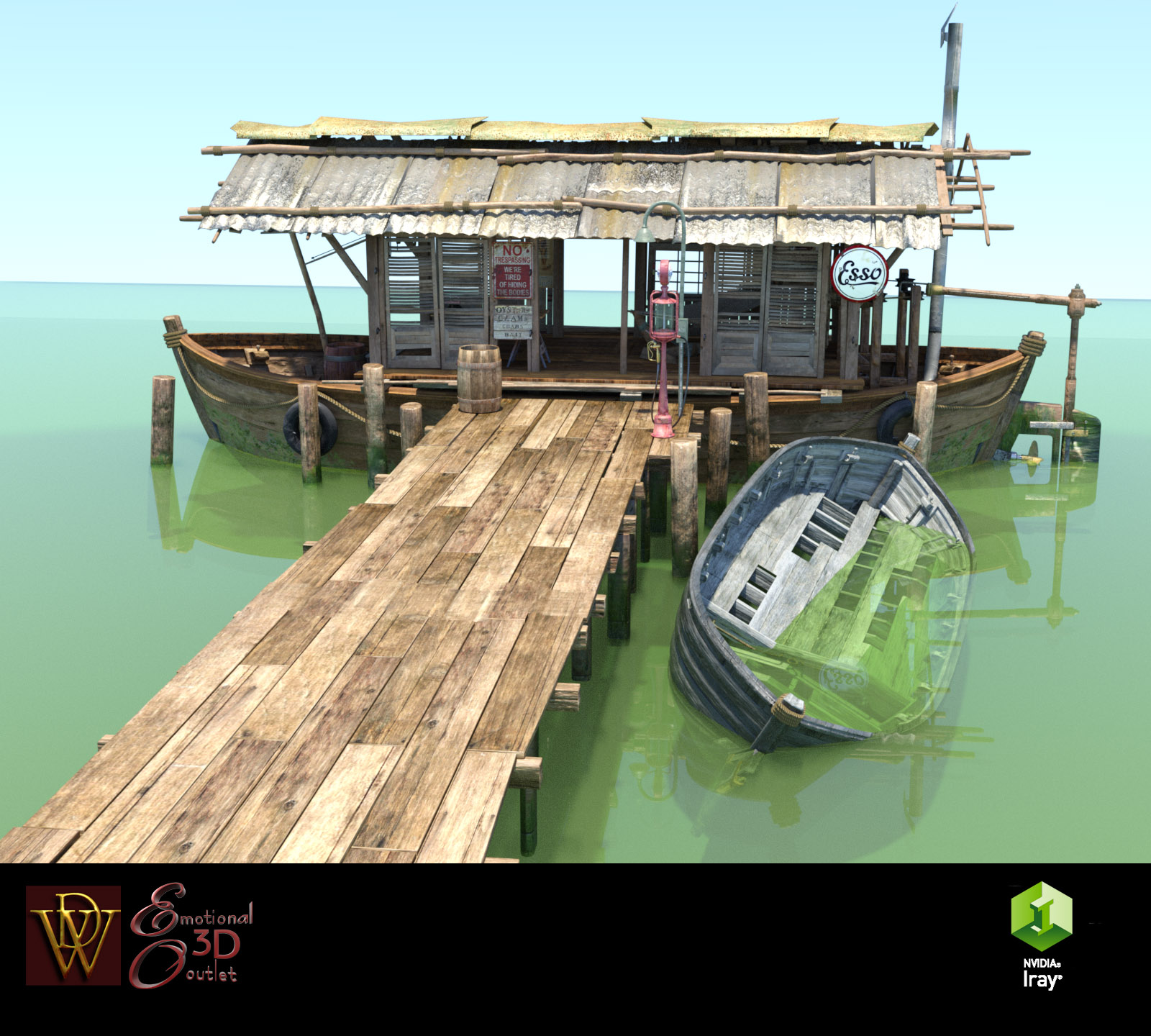 MS17 Swamp Boat for DAZ by London224
