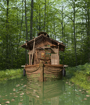 MS17 Swamp Boat for DAZ 3D Models London224