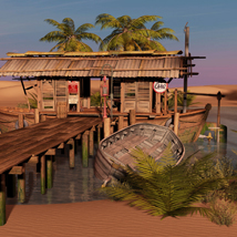 MS17 Swamp Boat for DAZ image 1