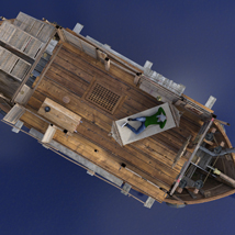 MS17 Swamp Boat for DAZ image 2
