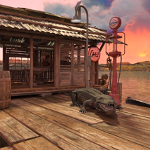MS17 Swamp Boat for DAZ image 5
