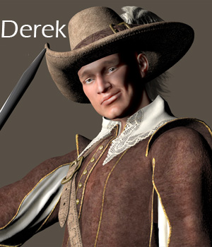 Derek for Michael 4 3D Figure Assets Damsel