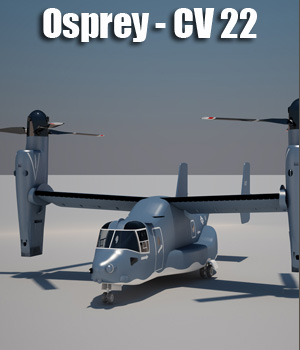 Osprey CV 22 Air Force - Animated 3D Game Models : OBJ : FBX wilson1