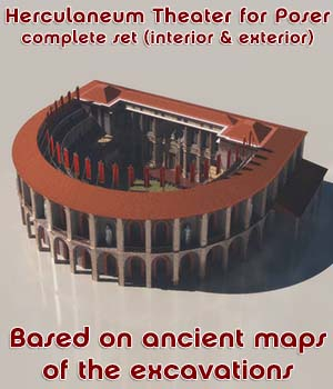 Herculaneum Theater - COMPLETE - for Poser 3D Models enxo69