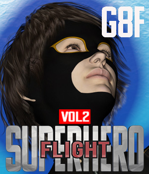 SuperHero Flight for G8F Volume 2 3D Figure Assets GriffinFX