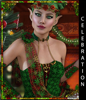 Celebration for Breena 3D Figure Assets sandra_bonello