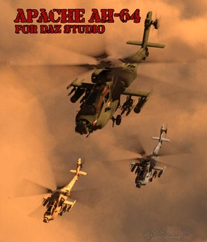 Apache AH-64 Helicopter - for DAZ Studio  3D Models VanishingPoint