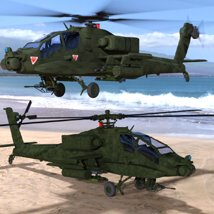 Apache AH-64 Helicopter - for DAZ Studio  image 1
