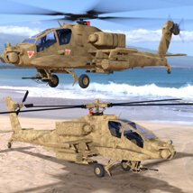 Apache AH-64 Helicopter - for DAZ Studio  image 2