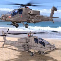 Apache AH-64 Helicopter - for DAZ Studio  image 3