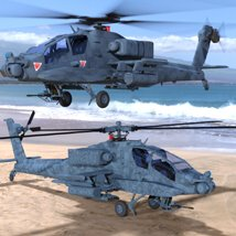Apache AH-64 Helicopter - for DAZ Studio  image 4