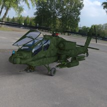 Apache AH-64 Helicopter - for DAZ Studio  image 6