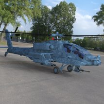 Apache AH-64 Helicopter - for DAZ Studio  image 7