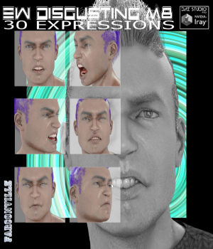 Ew Disgusting! for Michael 8 and Genesis 8 Male 3D Figure Assets farconville