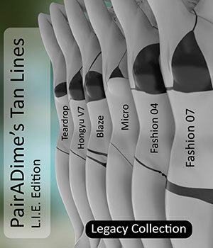 PairADime :: Tan Lines LIE for G3F :: The Legacy Collection 3D Figure Assets PairADime