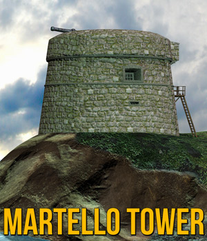 Martello Tower 3D Models Cybertenko