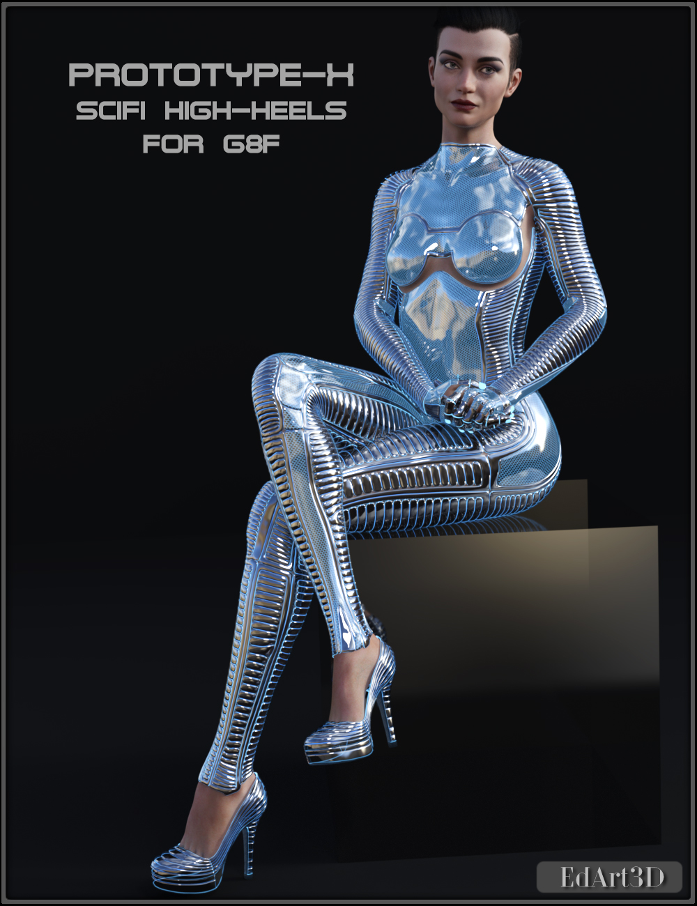PROTOTYPE-X - SciFi High-Heels - for G8F  by EdArt3D