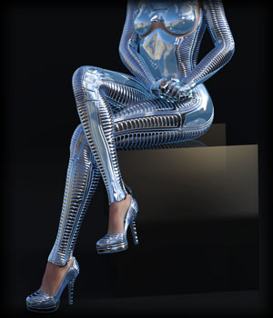 PROTOTYPE-X - SciFi High-Heels - for G8F  3D Figure Assets EdArt3D