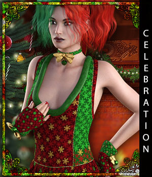 Celebration for Santa Honey 3D Figure Assets sandra_bonello