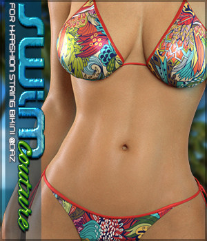 SWIM Couture for X-Fashion String Bikini 3D Figure Assets Sveva