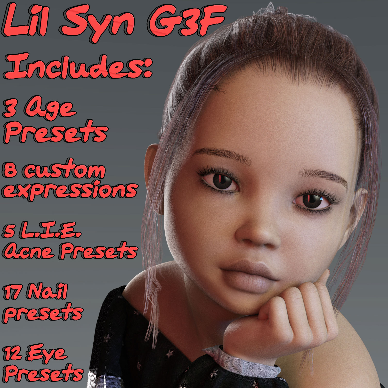 Lil Syn for G3F by 3DLoki