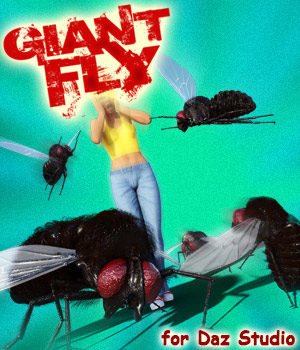 Giant Fly for DS Iray 3D Models powerage
