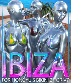 Ibiza for Hongyu's Bikini 3 for V7 3D Figure Assets ShanasSoulmate