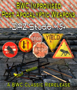 BWC Improvised Post Apocalyptic Weapons 3D Models ColonelPanic