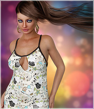Stylish for Fashion Blizz: Summer Cami 3D Figure Assets Belladzines
