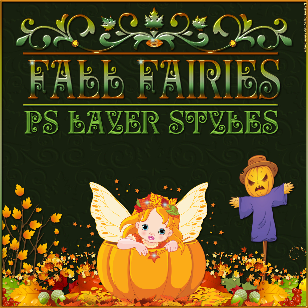 Fall Fairies PS Layer Styles